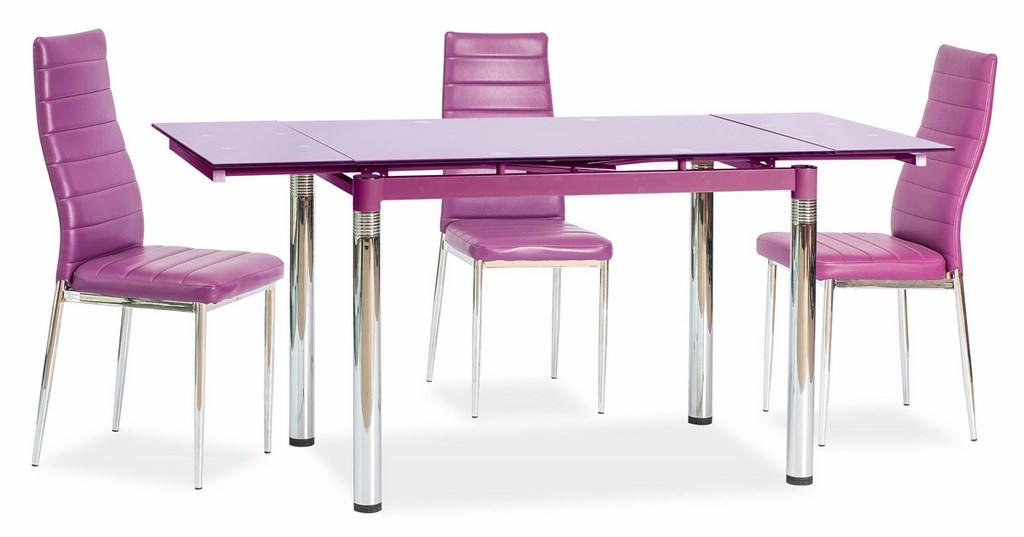 Jedálenská čalúnená stolička H-261 fialová - NA SKLADE!