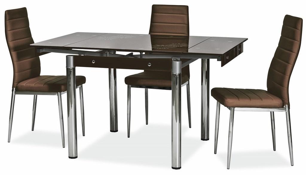 Jedálenská čalúnená stolička H-261 hnedá
