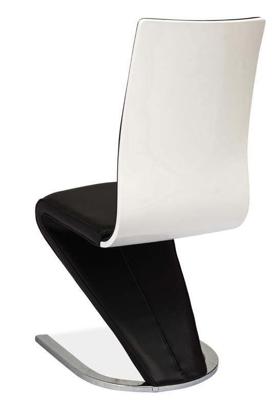Jedálenská čalúnená stolička H-669 čierna/biela