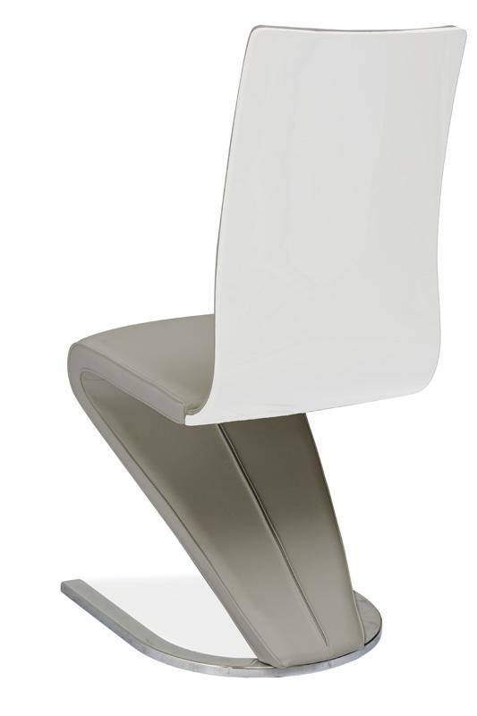 Jedálenská čalúnená stolička H-669 šedá/biela