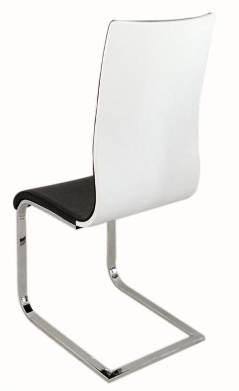Jedálenská čalúnená stolička H-668 čierna/biela