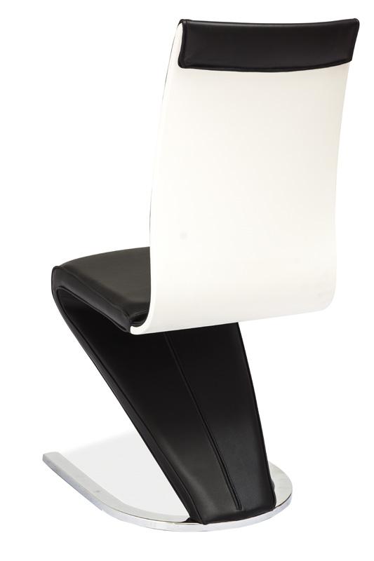 Jedálenská čalúnená stolička H-134 čierna/biela