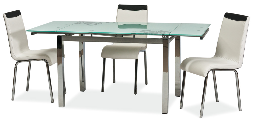 Jedálenský stôl GD-017 rozkladací biely