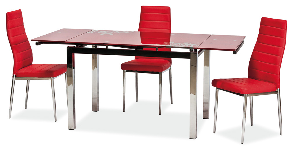 Jedálenský stôl GD-017 rozkladací červený