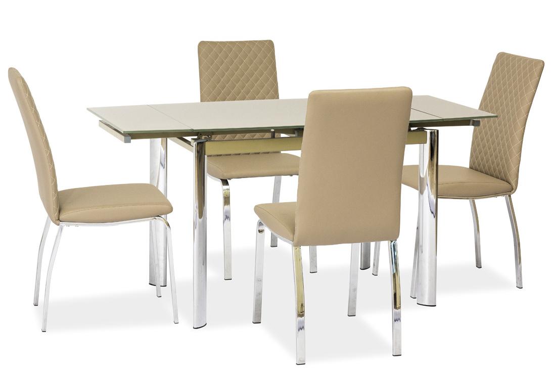 Jedálenský stôl GD-019 rozkladací tm. béžový