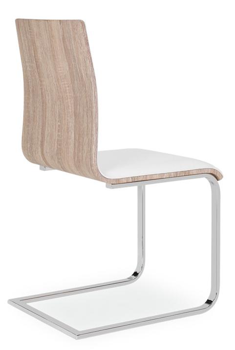 Jedálenská čalúnená stolička H-690 biela/dub sonoma