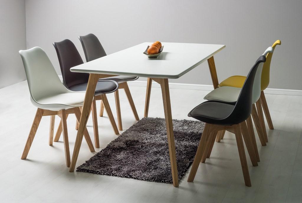 Jedálenská stolička KRIS modrá/buk