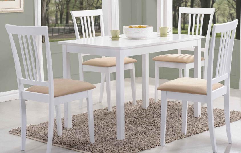 Jedálenský stôl FIORD biely 80x60