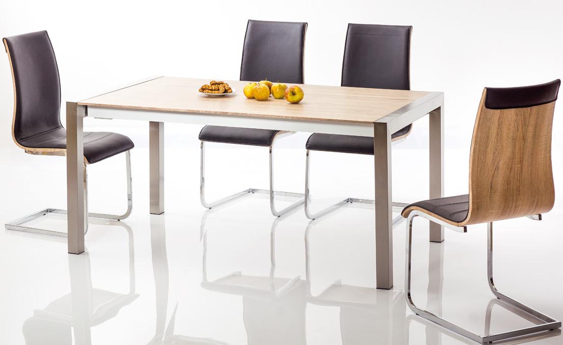 Jedálenská čalúnená stolička H-133 čierna/dub sonoma