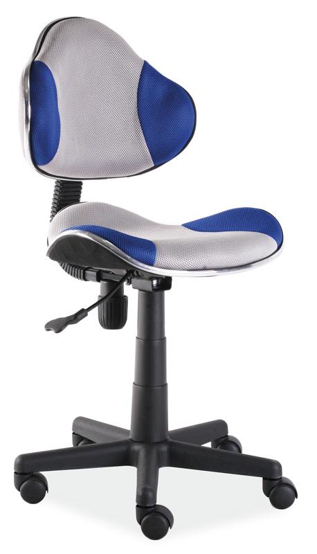Kancelárska stolička Q-G2 šedá/modrá