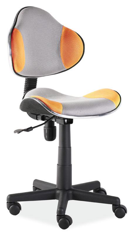 Kancelárska stolička Q-G2 šedá/oranžová