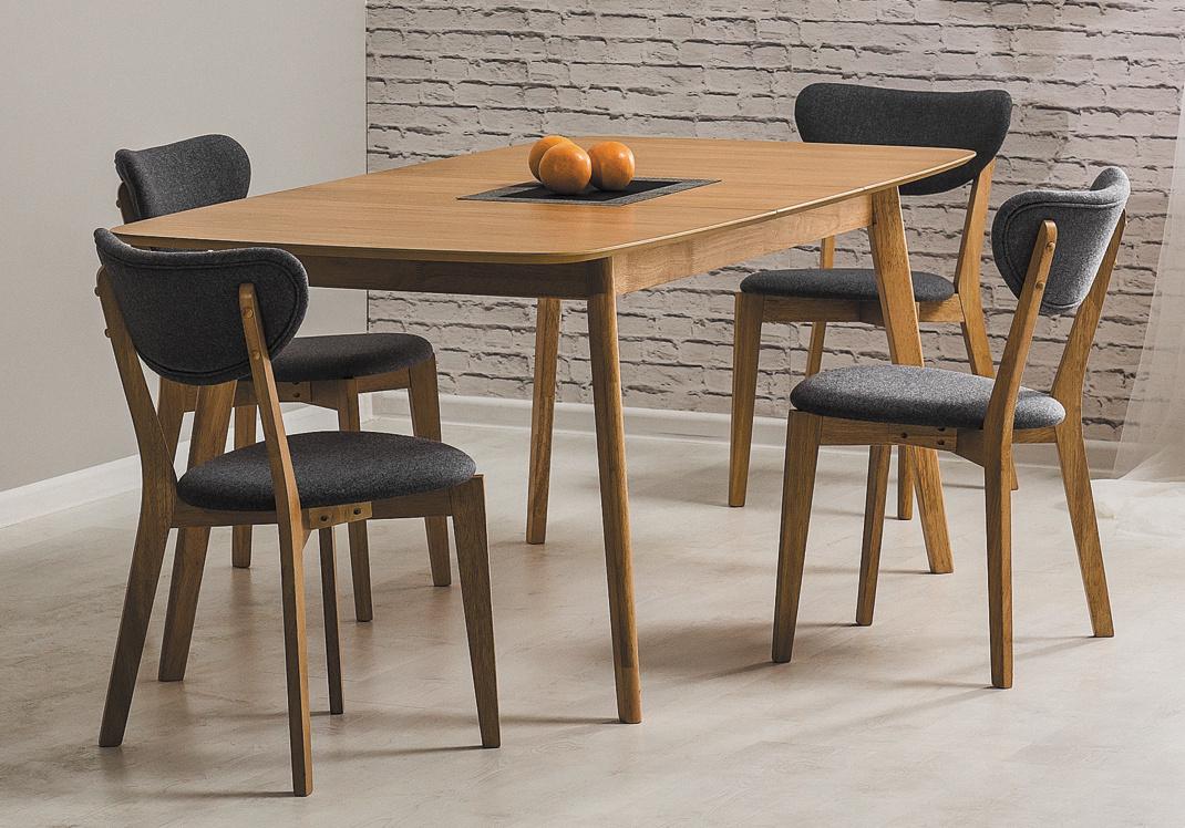 Jedálenská čalúnená stolička ANDRE šedá/dub
