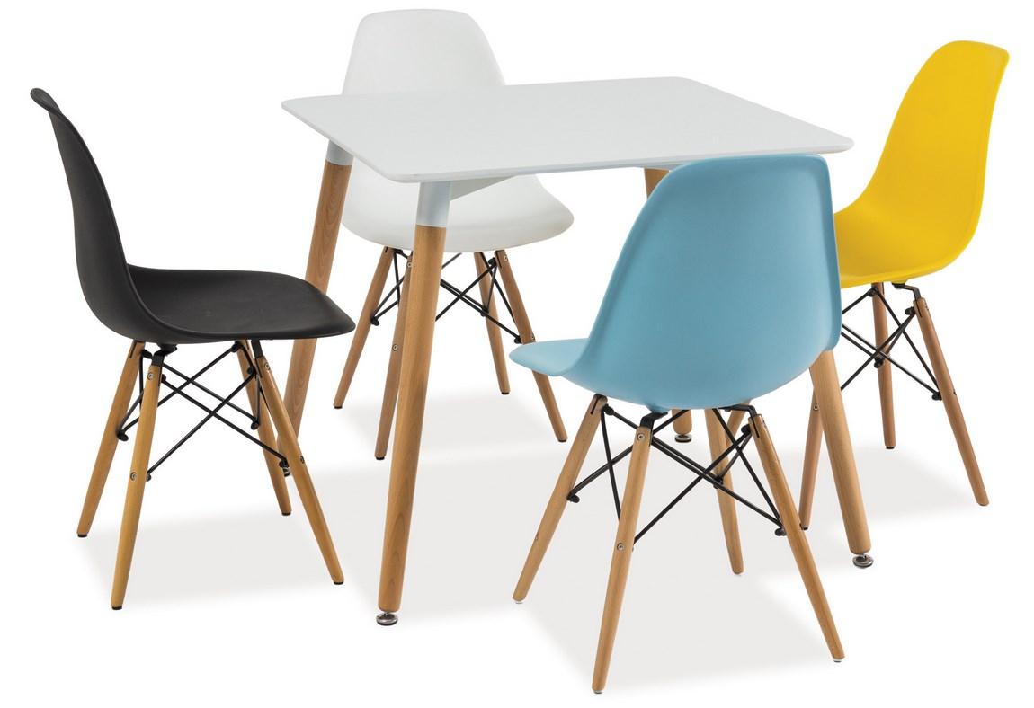 Jedálenská stolička ENZO biela