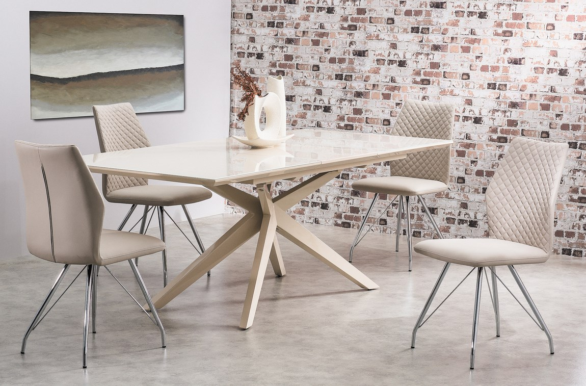 Jedálenská čalúnená stolička H-604 cappuccino