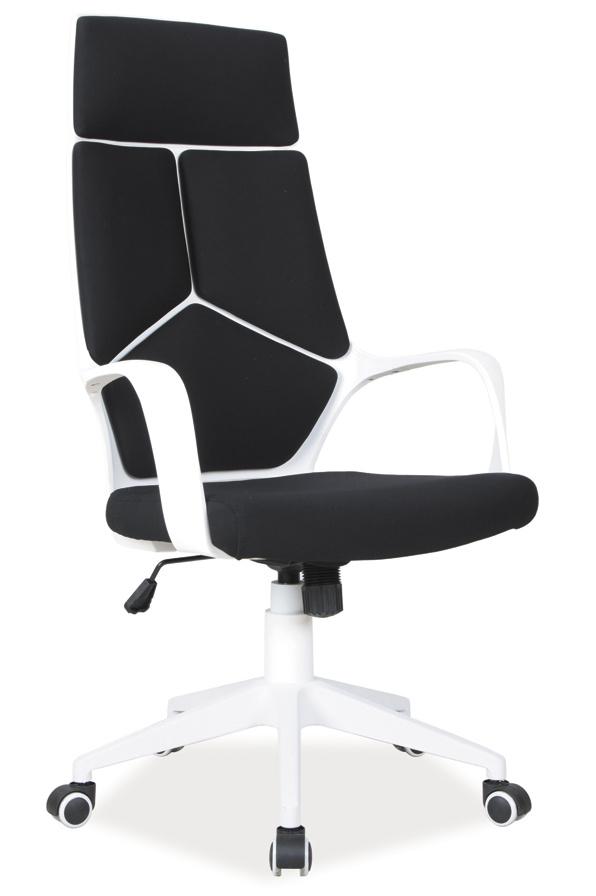 Kancelárske kreslo Q-199 čierna/biela - NA SKLADE!