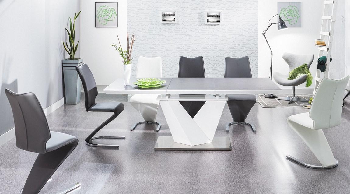 Jedálenská čalúnená stolička H-050 šedá
