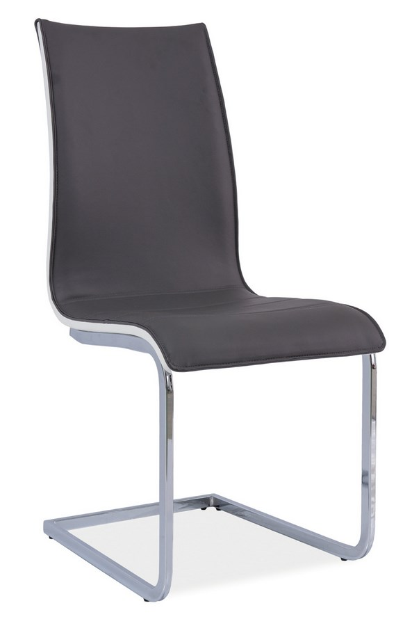 Jedálenská čalúnená stolička H-133 šedá/biela