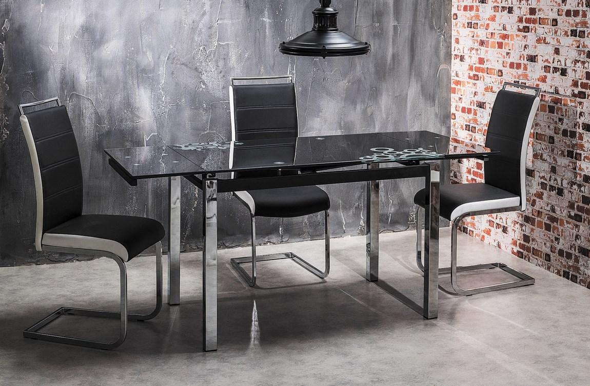Jedálenská čalúnená stolička H-441 čierna/biela