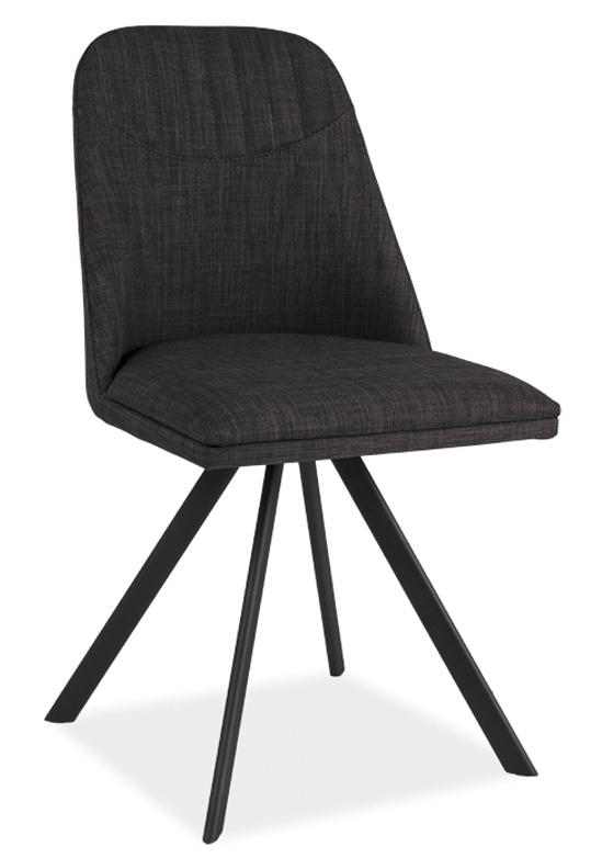 Jedálenská čalúnená stolička MILTON šedá