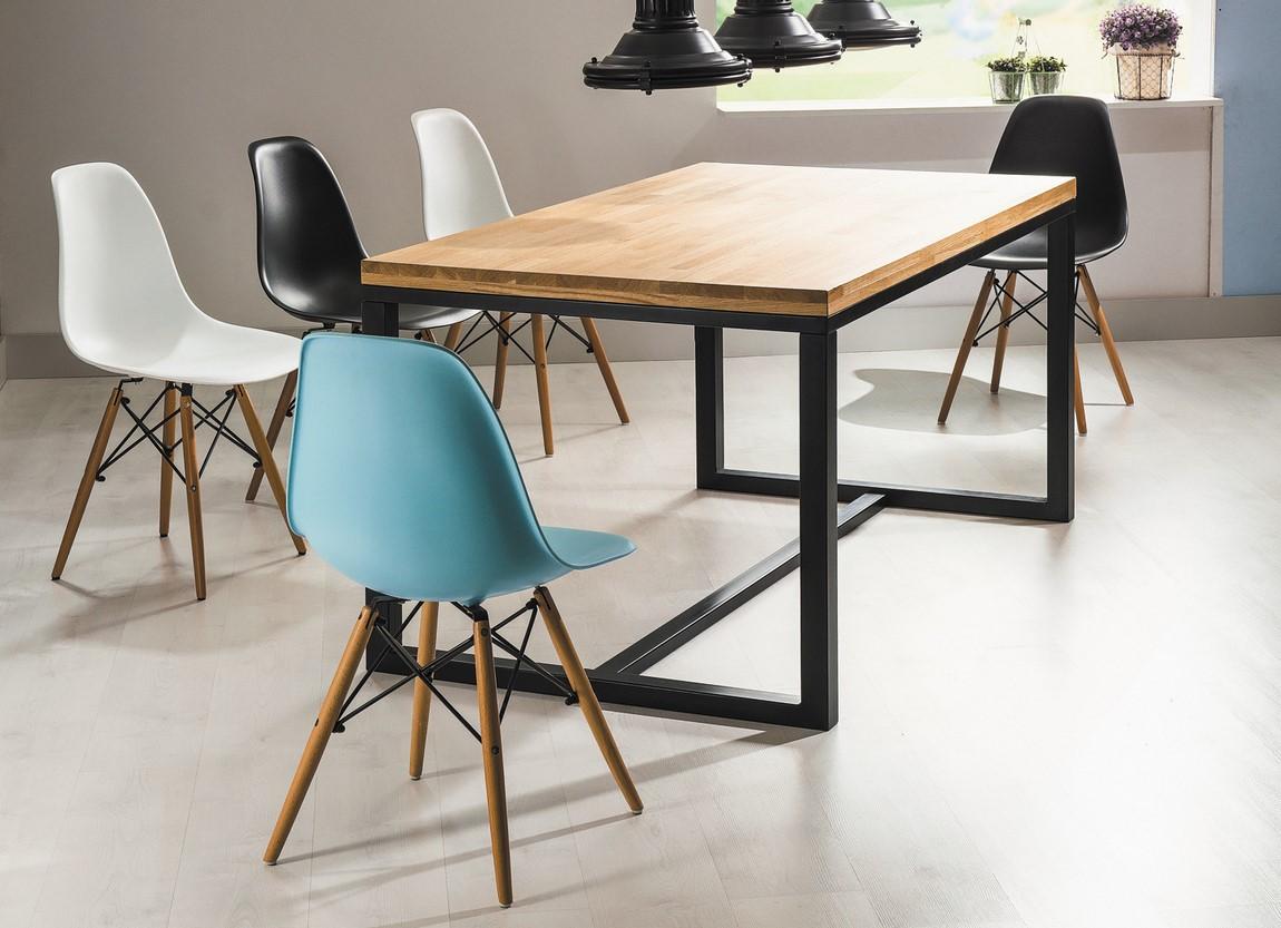 Jedálenská stolička ENZO modrá