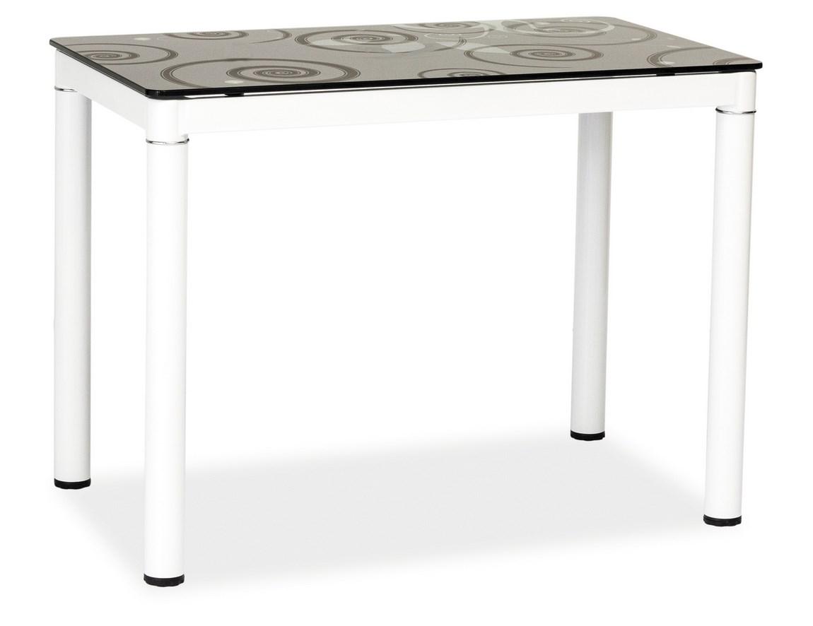 Jedálenský stôl DAMAR černo-biely