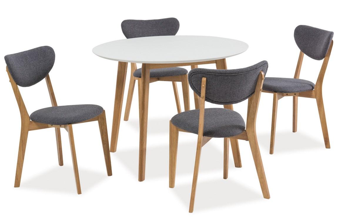 Jedálenský stôl MOSSO II 100 dub/biela