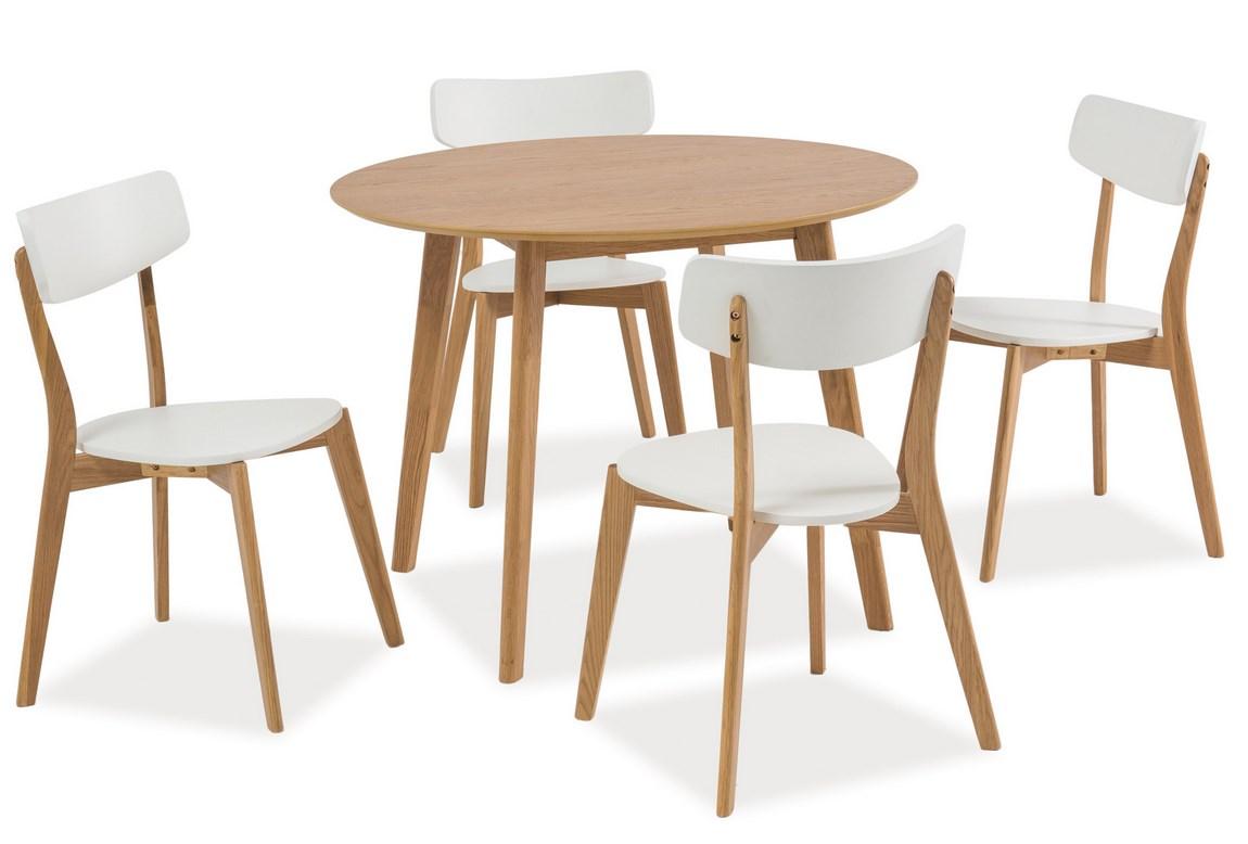 Jedálenský stôl kulatý MOSSO II dub