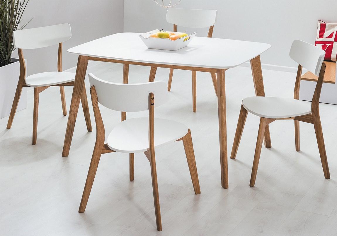 Jedálenský stôl MOSSO I dub-biela