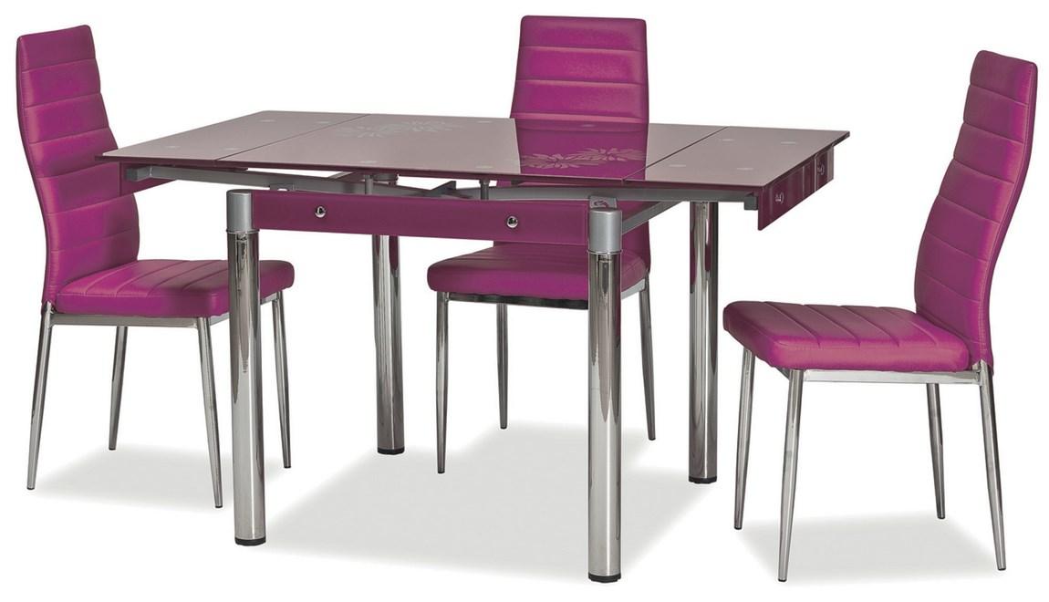 Jedálenský stôl GD-082 rozkladací fialový