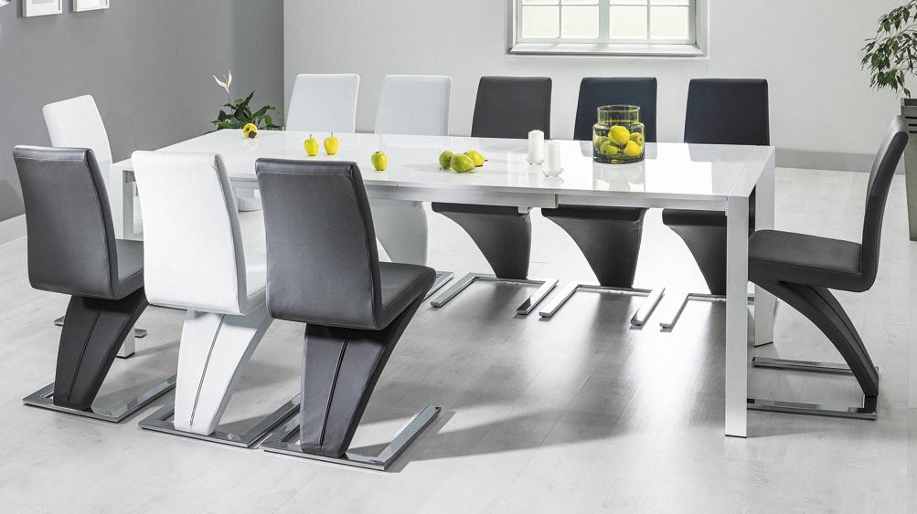 Jedálenská čalúnená stolička H-010 biela