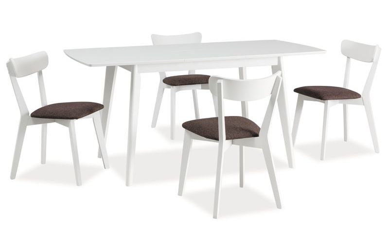 Jedálenský stôl rozkládací COMBO II biely
