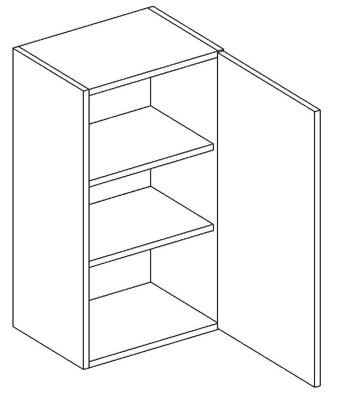 W40 h. skříňka pravá PAULA šedá/mat. šedá