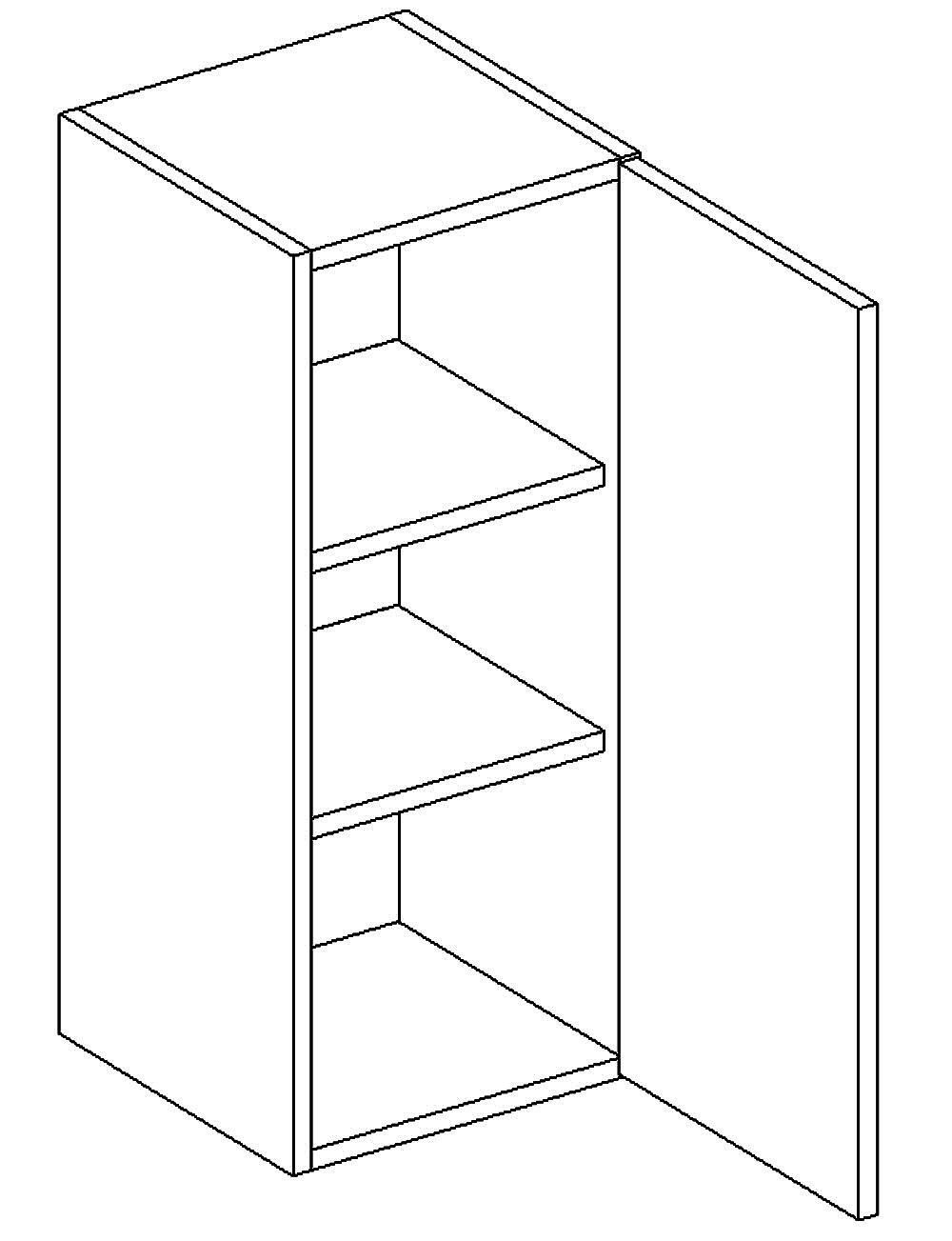 W30 h. skříňka pravá PAULA šedá/mat. šedá