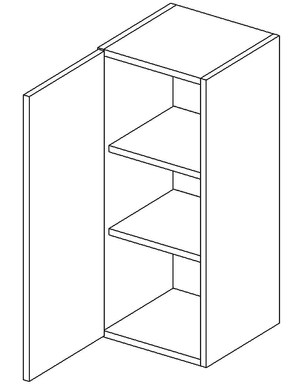 W30 h. skříňka levá PAULA šedá/mat. šedá