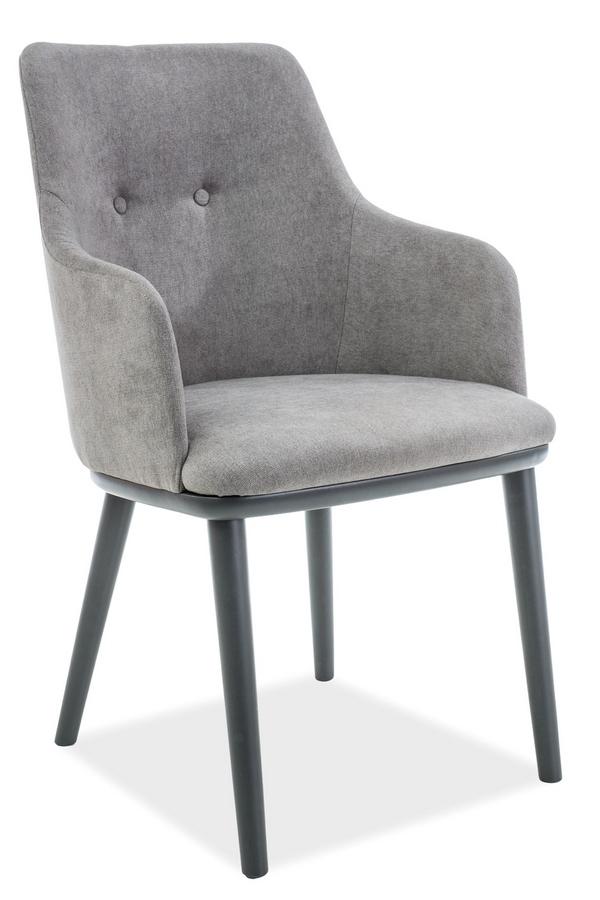 Jedálenská čalúnená stolička FLIP šedá/grafit