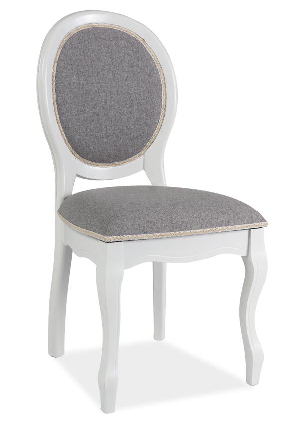 Jedálenská čalúnená stolička FN-SC biela