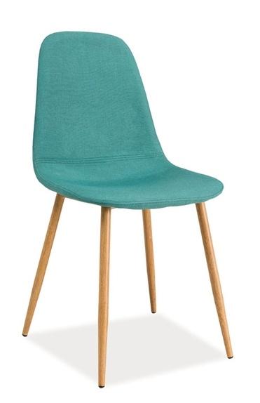 Jedálenská čalúnená stolička FOX mátová/dub