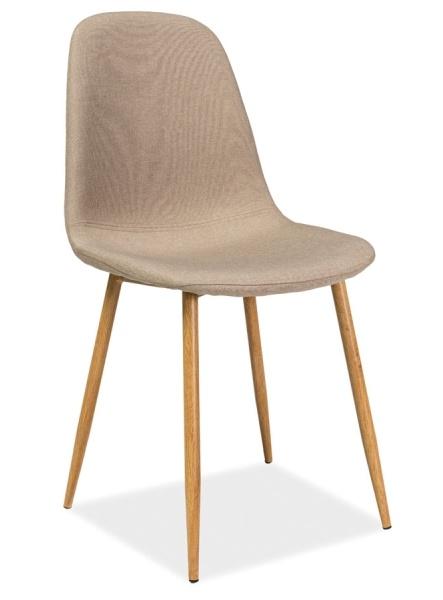 Jedálenská čalúnená stolička FOX béžová