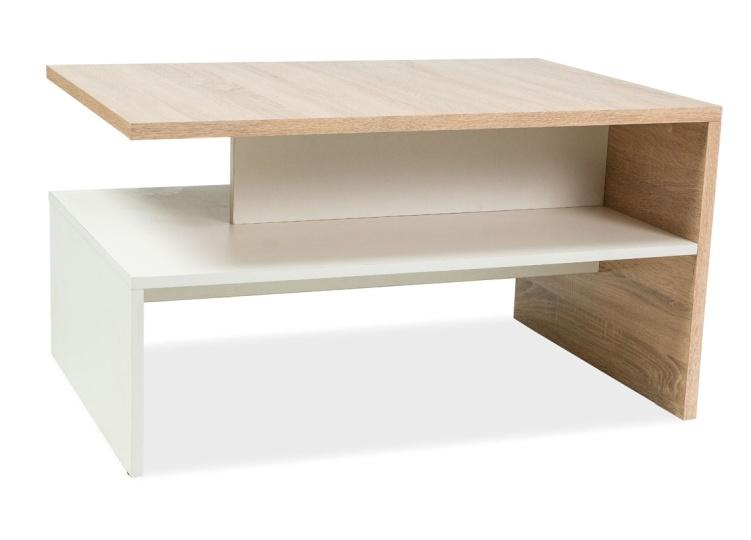 Konferenčný stolík FRIDA dub sonoma/biela