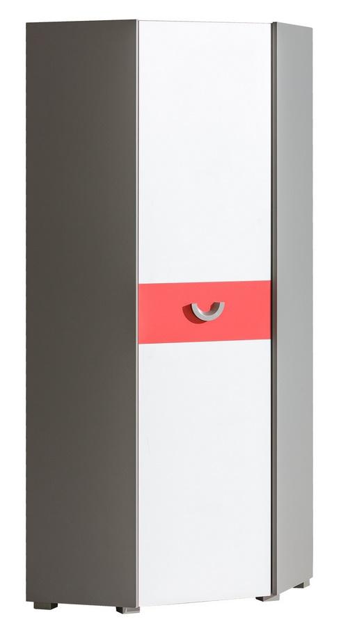 FUTURO F7 rohová skriňa grafit/biela/viac farieb