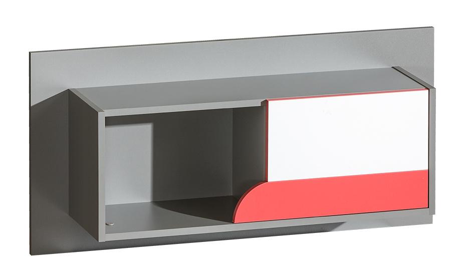 FUTURO F9 Závesný regál grafit/biela/viac farieb
