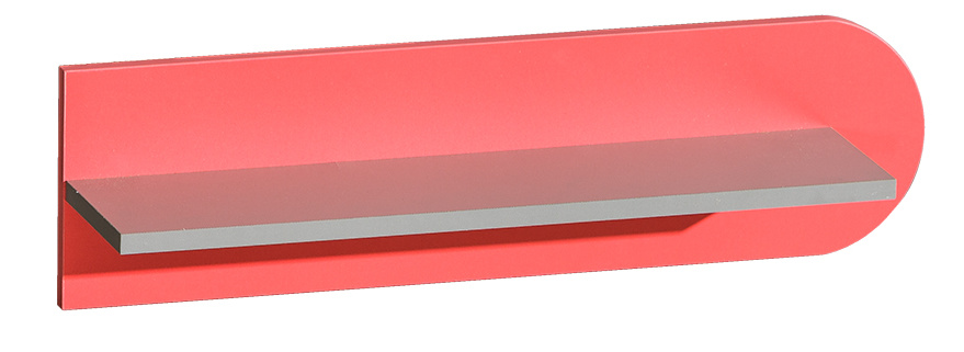 FUTURO F10 závěsná police grafit/výběr barev