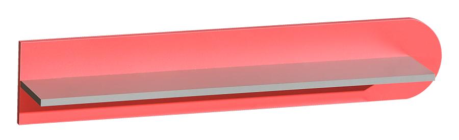 FUTURO F11 závesná polica grafit/viac farieb