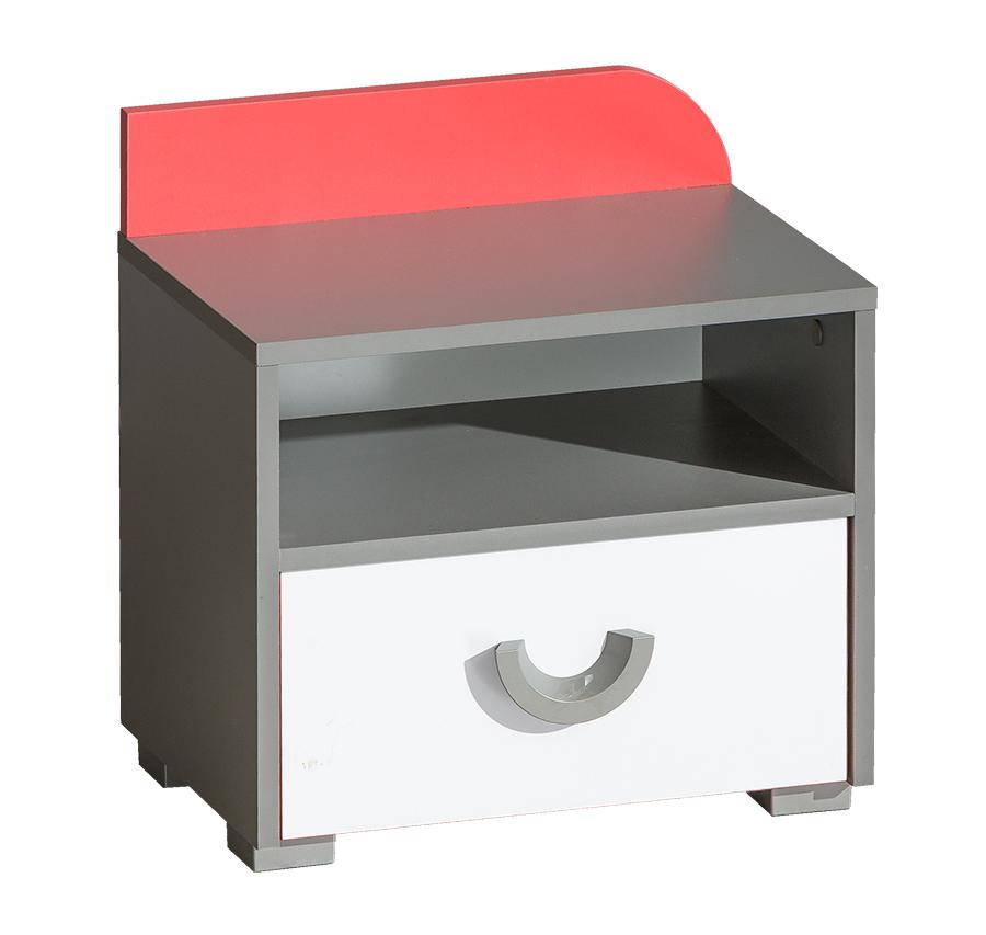 FUTURO F12 nočný stolík grafit/biela/viac farieb