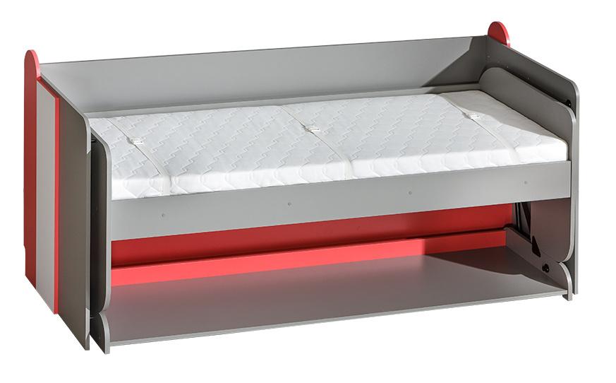 FUTURO F14 postel/Písaci stôl grafit/biela/viac farieb