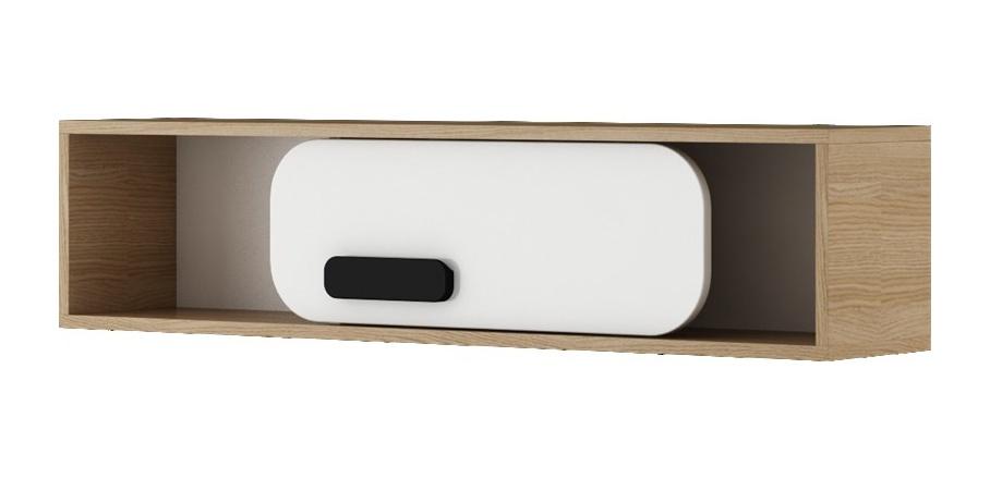 GUSTO G-10 závěsná skříňka dub nova/bílá