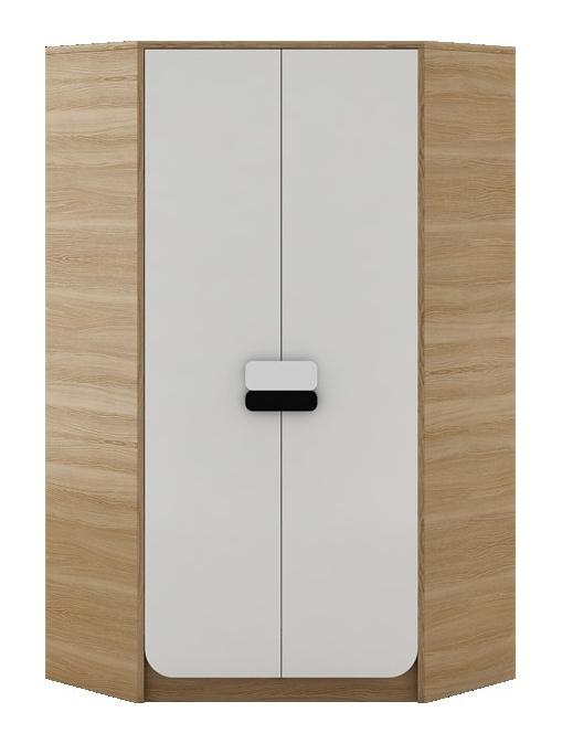 GUSTO G-01 šatní skříň rohová dub nova/bílá