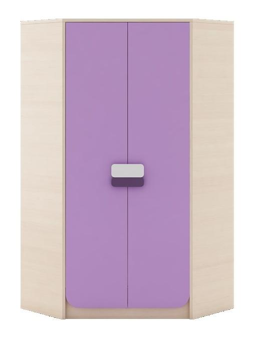 GUSTO G-01 šatní skříň rohová dub kremona/lavenda