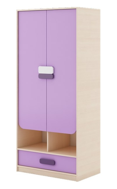 GUSTO G-03 šatní skříň dub kremona/lavenda