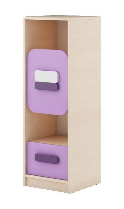 GUSTO G-07 skříňka dub kremona/lavenda